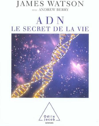Couverture du livre « Adn » de Watson-J aux éditions Odile Jacob