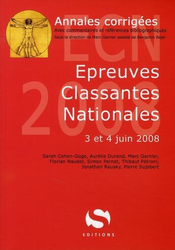 Couverture du livre « Annales Ecn 2008 » de Collectif aux éditions Medxls