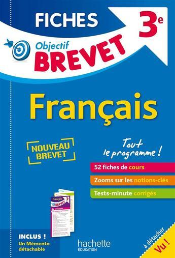 Couverture du livre « 3ème ; fiches détachables français » de Isabelle De Lisle aux éditions Hachette Education