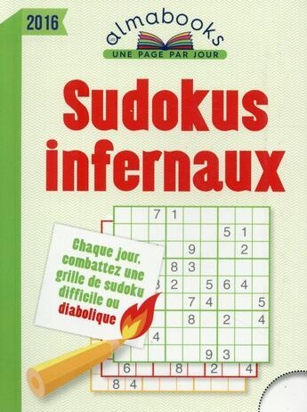Couverture du livre « Almabook ; sudokus infernaux (édition 2016) » de Collectif aux éditions Editions 365