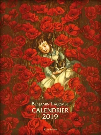 Couverture du livre « Calendrier (édition 2019) » de Benjamin Lacombe aux éditions Albin Michel