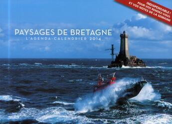 Couverture du livre « Agenda calendrier paysages de Bretagne 2014 » de Collectif aux éditions Hugo