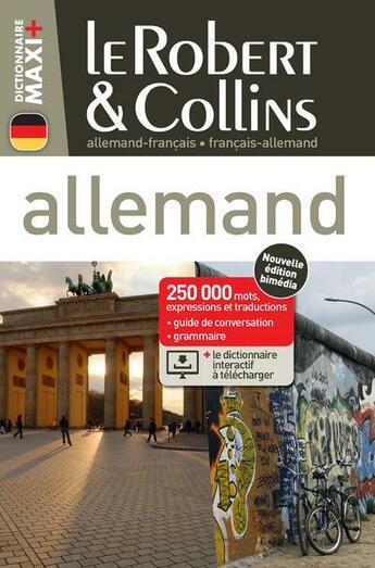 Couverture du livre « LE ROBERT & COLLINS ; MAXI + ; allemand » de Collectif aux éditions Le Robert