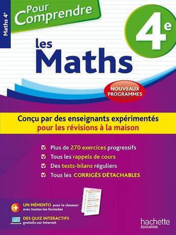 Couverture du livre « Pour Comprendre Les Mathematiques ; 4e » de Rousseau-P aux éditions Hachette Education