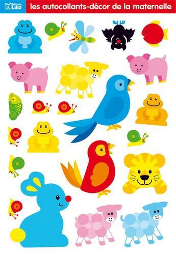 Couverture du livre « Autocollant Decor Maternelle : Perroquets-Lapin » de Jordi Busquets aux éditions Lito