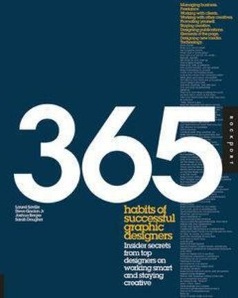 Couverture du livre « 365 Habits Of Successful Graphic Designers /Anglais » de Saville/Berger/Gordo aux éditions Rockport