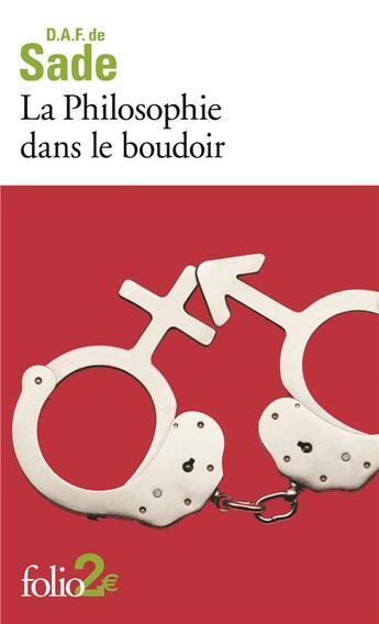 Couverture du livre « La philosophie dans le boudoir » de D.A.F. De Sade aux éditions Gallimard