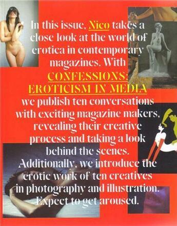 Couverture du livre « Confessions : eroticism in media » de Nico Magazine aux éditions Dgv