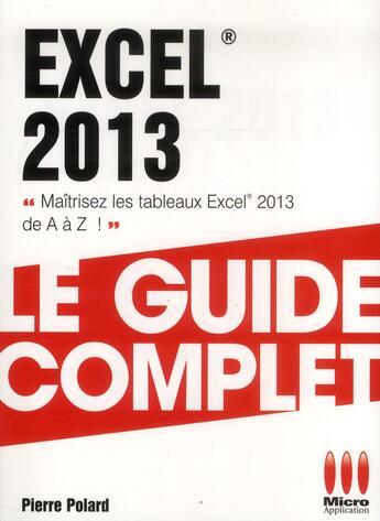 Couverture du livre « Excel 2013 » de Marina Mathias aux éditions Micro Application