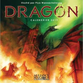 Couverture du livre « Calendrier dragon (édition 2019) » de Collectif aux éditions Alliance Magique