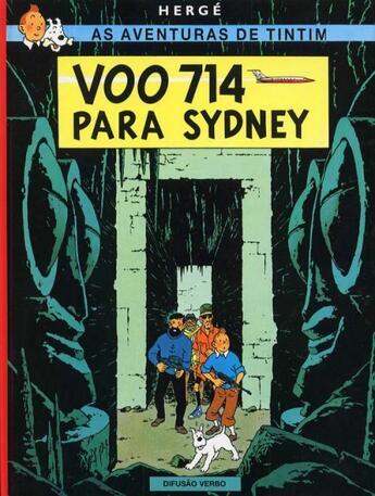 Couverture du livre « As aventuras de Tintim t.22 ; voo 714 para Sydney » de Herge aux éditions Casterman