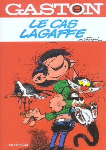 Couverture du livre « Gaston Lagaffe t.9 ; le cas Lagaffe » de Franquin aux éditions Dupuis