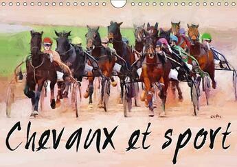Couverture du livre « Chevaux et sport calendrier mural 2018 din a4 horizontal - serie de 12 tableaux pour mett » de Sudpastel aux éditions Calvendo