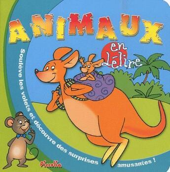 Couverture du livre « Animaux en délire ; kangourou » de Collectif aux éditions Piccolia