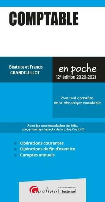 Couverture du livre « Comptable (édition 2020/2021) » de Beatrice Grandguillot et Francis Grandguillot aux éditions Gualino