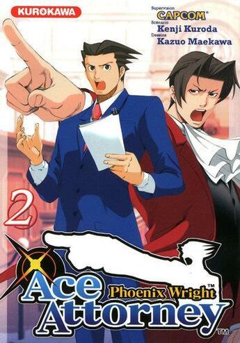 Couverture du livre « Ace Attorney - Phoenix Wright t.2 » de Kazuo Maekawa et Kenji Kuroda aux éditions Kurokawa