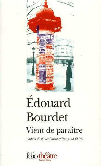 Couverture du livre « Vient de paraitre » de Edouard Bourdet aux éditions Gallimard