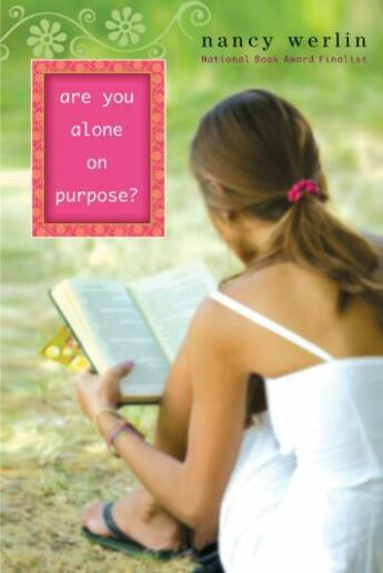 Couverture du livre « Are You Alone on Purpose? » de Nancy Werlin aux éditions Penguin Group Us