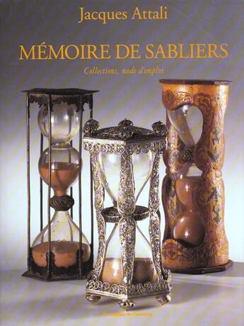 Couverture du livre « Memoire De Sabliers » de Attali. Jacques aux éditions Amateur