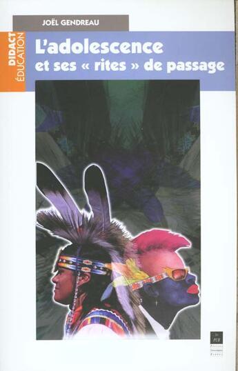 Couverture du livre « Adolescence et ses rites de passage » de Gendreau aux éditions Pu De Rennes