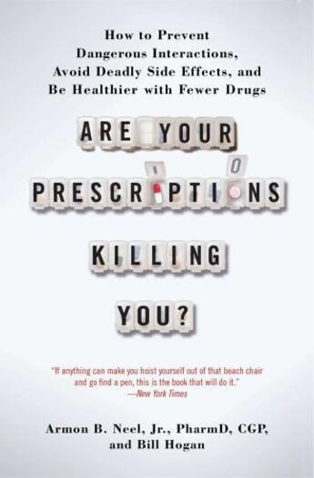 Couverture du livre « Are Your Prescriptions Killing You? » de Hogan Bill aux éditions Atria Books
