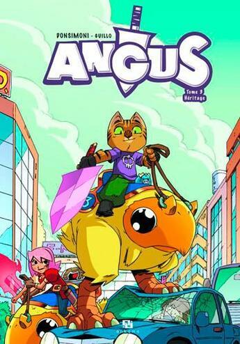 Couverture du livre « Angus t.3 ; héritage » de Regis Donsimoni aux éditions Ankama