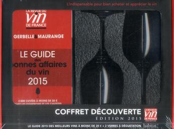 Couverture du livre « Découverte ; coffret ; guide rouge (édition 2015) » de Antoine Gerbelle aux éditions Revue Du Vin De France