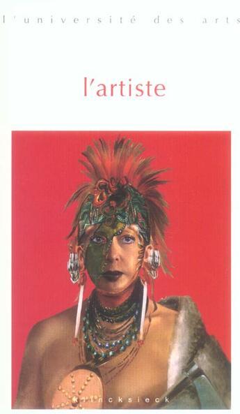 Couverture du livre « Artiste (L') » de Collectif aux éditions Klincksieck