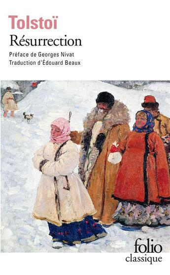 Couverture du livre « Résurrection » de Leon Tolstoi aux éditions Gallimard
