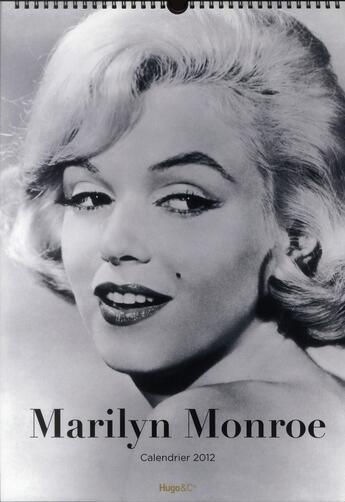 Couverture du livre « Calendrier mural Marylin Monroe 2012 » de Collectif aux éditions Hugo Image