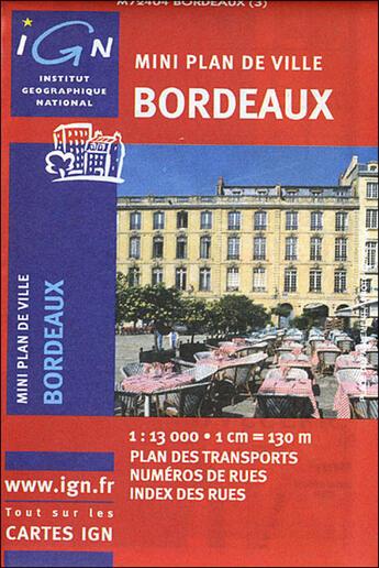 Couverture du livre « *Mini Plan Bordeaux* » de Collectif Ign aux éditions Ign