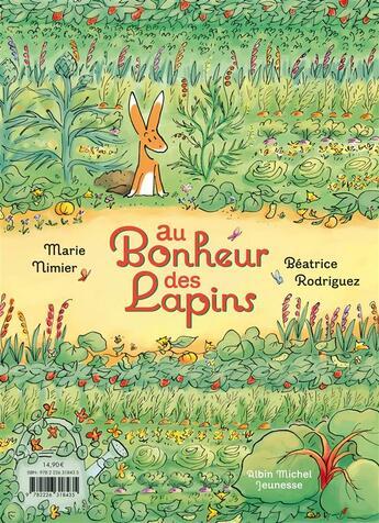 Couverture du livre « Au bonheur des lapins » de Marie Nimier et Beatrice Rodriguez aux éditions Albin Michel Jeunesse