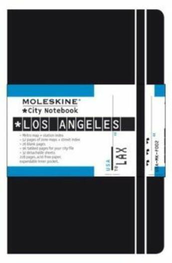 Couverture du livre « City notebook los angeles poche couv. rigide noir » de Moleskine aux éditions Moleskine