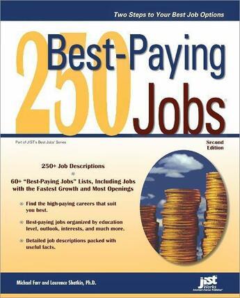Couverture du livre « 250 Best-Paying Jobs » de Michael Farr aux éditions Jist Publishing