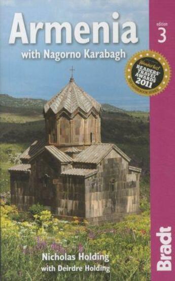 Couverture du livre « ARMENIA. WITH NAGORNO KARABAGH - 3RD EDITION » de Nicolas Holding aux éditions Bradt