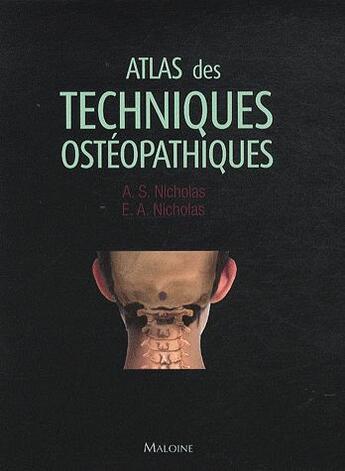 Couverture du livre « Atlas des techniques osteopathiques » de Collectif aux éditions Maloine