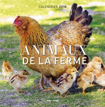 Couverture du livre « Calendrier animaux de la ferme (édition 2018) » de Collectif aux éditions Hugo Image