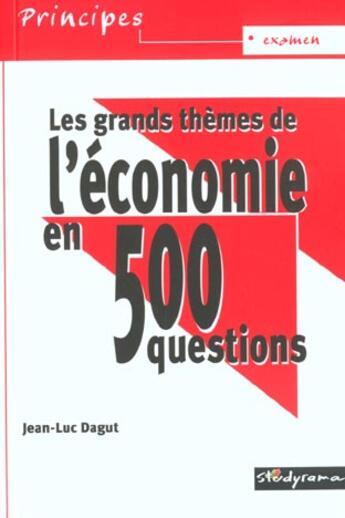 Couverture du livre « 500 Qcm D'Economie » de Collectif aux éditions Studyrama