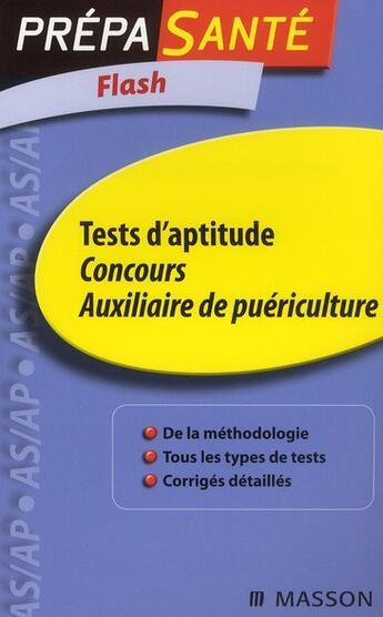 Couverture du livre « Concours AP ; tests d'aptitude (2e édition) » de Ghyslaine Benoist aux éditions Elsevier-masson