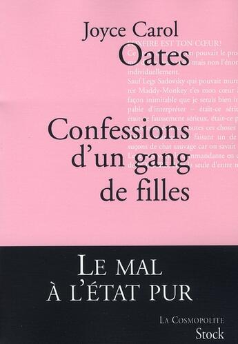 Couverture du livre « Confessions d'un gang de filles » de Oates-J.C aux éditions Stock