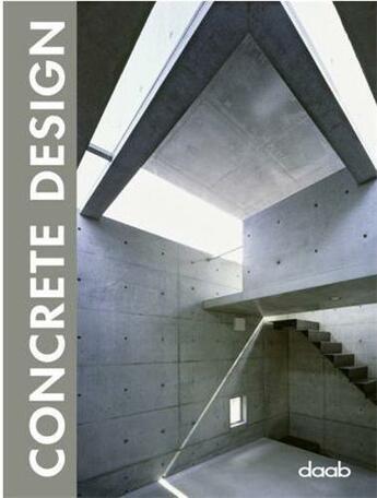 Couverture du livre « Concrete design » de Collectif aux éditions Daab