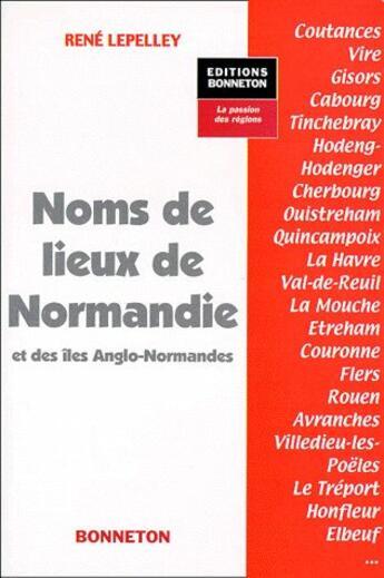 Couverture du livre « **N.Lieux De Normandie & I.Anglo** » de  aux éditions Bonneton