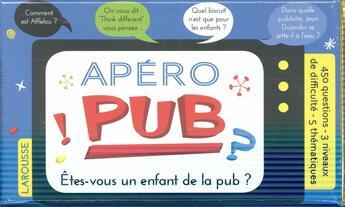 Couverture du livre « Apéro pub » de Clemence Roux De Luze aux éditions Larousse