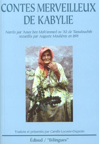 Couverture du livre « Contes Merveilleux De Kabylie » de Camille Lacoste-Dujardin aux éditions Edisud