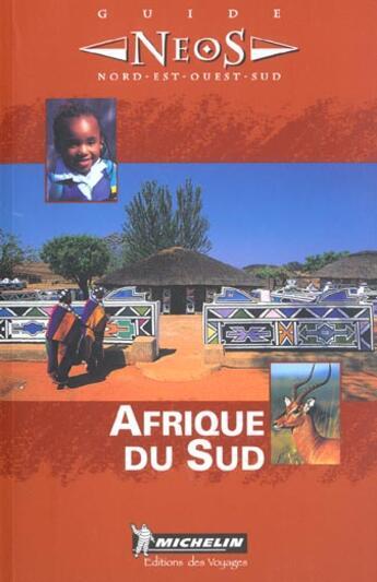 Couverture du livre « Afrique du sud » de Collectif Michelin aux éditions Michelin
