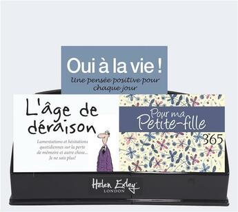 Couverture du livre « Presentoir carton pensee du jour - 12 volumes » de 0 aux éditions Exley