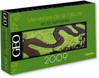 Couverture du livre « Calendrier merveilles de la nature 2009 » de Collectif aux éditions Play Bac