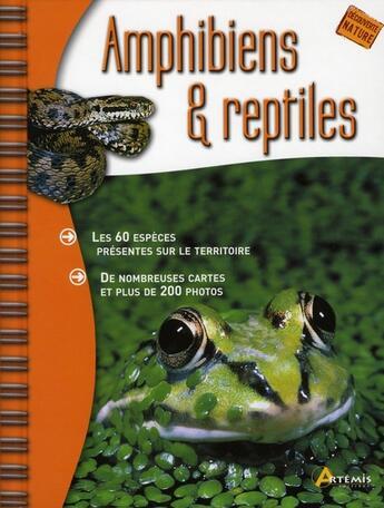 Couverture du livre « Amphibiens et reptiles » de Collectif aux éditions Artemis