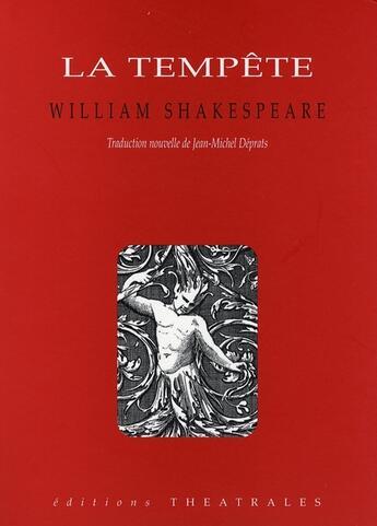 Couverture du livre « La tempête » de William Shakespeare aux éditions Theatrales