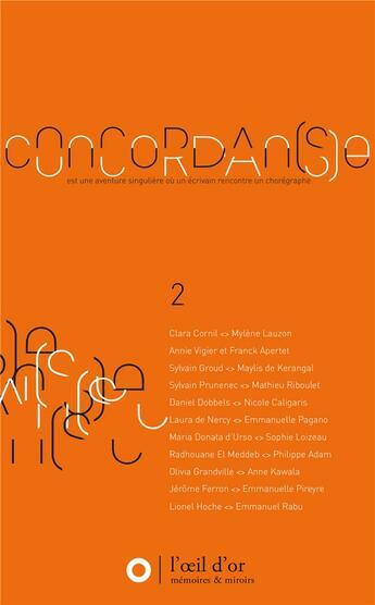Couverture du livre « Concordan(s)e 2 » de Jean-Francois Munnier aux éditions L'oeil D'or
